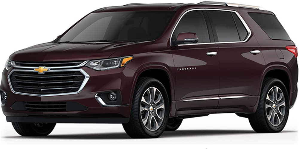 Chevrolet Traverse - Tu Crossover Color Burdeo